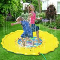 schlauchboote spielzeug für kinder großhandel-170 cm Sommer Aufblasbare Wassermatte kinder Im Freien Spielen Wasserspiele Strandmatte Rasen Aufblasbare Sprinkler Kissen Spielzeug Für Kinder