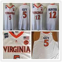 camiseta de baloncesto nueva llegada al por mayor-Nueva llegada Hombres Virginia Cavaliers # 5 Kyle Guy 2019 Final Cuatro Campeones Jersey # 12 De'Andre Hunter Virginia Cavaliers Jersey Baloncesto