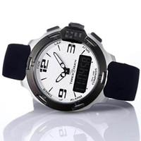 Wholesale analog watch compass online - Popular T Race Touch T081 Screen Altimeter Compass Chrono Quartz Rubber Strap Deployment Clasp White Dial Watch Wristwatches Mens Watches
