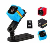beyzbol kap video kamera toptan satış-SQ11 mini kamera HD 1080 P gece görüş mini kamera spor DV kaydedici mikro kamera (32G hafıza kartı ile)