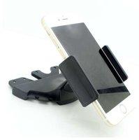 telefon-armaturenbretthalter großhandel-Universal Car CD Slot Handyhalterung Einstellbare Handyhalter Carcd Dash Slot Handy Ständer Halter für xiaomi 3 4