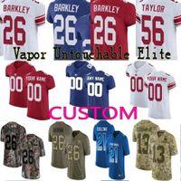 781e14841 custom Men Youth women New York 26 Saquon Barkley Odell Beckham Jr Eli  Manning Lawrence Taylor Giants Camo Salute to Service Elite Jersey 01