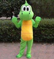 damla gemi kostümleri toptan satış-Drop shipping yeni yetişkin peluş yeşil kurbağa maskot kostüm hayvan kostüm karikatür kostüm EMS