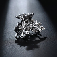 Vintage Hair Accessories for Women Small Hair Claw Clips Leaf Hairpin Mini Hair Pins Ladies Headdress Ancient Silver Color HC015
