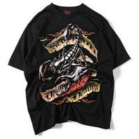 asiatische mode t-shirt männer großhandel-Designer T-shirts Herren 2019 Marke Mode Beiläufige Lose Männer Kleidung Weiche Pullover Rock und Hip-Hop Shirt Asiatische Größe S-2XL Hohe Qualität