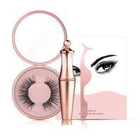 nouvel eye-liner durable achat en gros de-2019 Nouvel eye-liner magnétique avec kit de cils magnétiques Longue durée imperméable Faux cils et pinces à cils