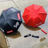 ingrosso ombrelli in pizzo per matrimoni-Ombrellone Marea marchio di moda lettera stampa Ombrello 8 osso Ombrello semplice antivento nuovo stile all'ingrosso