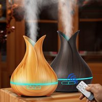 US $18.9 |KBAYBO Ultrasonic Air Humidifier 400ml Aroma Essential Oil Diffuser with Wood Grain 7 Color Changing LED Lights for Office Home|aroma