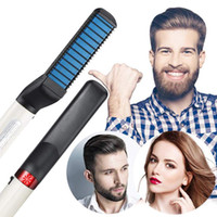 Wholesale beard comb straightener for sale - Group buy Multifunctional Quick Beard Straightener Comb Multifunctional Hair Curler Straightening Permed Clip Comb Styler Electric Hair Tool for Men