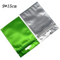 Wholesale poly foil bags online - Heat Sealable x15cm Matte Green Zip Lock Aluminum Foil Plastic Package Bag Seal Sealing Mylar Frosted Poly Bag For Food Electronics Package