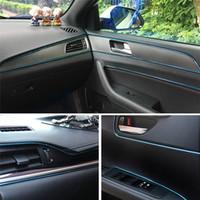 Wholesale decorative car parts resale online - 5m Car Style Interior Trim With Decorative Molding Fascia Dashboard Door Edge Universal Car Auto Parts accessories