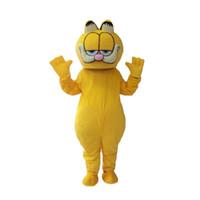Wholesale theme dress adults resale online - Factory direct sale Garfield Cat Mascot Costume Fancy Dress Adult Size Animal Theme Costumes
