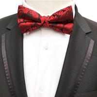 laço de borboleta verde dos homens venda por atacado-Moda Verde Clássico Paisley Moda Bowties Noivo Mens Gravata para Homens Borboleta Gravata do Sexo Masculino Casamento Estrela Laços de Casamento