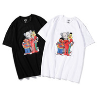 desenho de desenho de impressão de camisetas venda por atacado-Verão de Moda de Nova Homens E Camisas das mulheres T de Algodão Puro E Mangas Curtas Dos Desenhos Animados Impressão Original Design