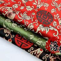 jacquard-stoff kleid großhandel-Brocade Jacquard Silk Satin-Kostüm chinesische Kleidung Kleid Babykleidung Stoff COS Kleidung Stoff Damast Granatapfel Blumen