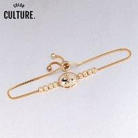 Wholesale panda bracelets resale online - China Lovely Panda Design Bracelet for Women Adjustable Delicate Micro Paved Zirconia Enamel Jewelry Girl New Year gifts
