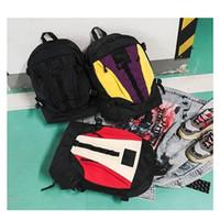 ingrosso sacchetti di spalla doppio dello zaino viola-Outdoor Motion Bag Sup Backpack Uomini e donne Zaino Double Shoulder Strap Oxford Purple White Resistente all'usura 35kz C1