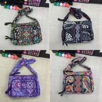 Wholesale print fabric china resale online - VB National Style Wallet Purse Women Cotton Fanny Pack Belt Waist Bag Floral Print Handbags Cross Body Bags Credit Card Holder C72902