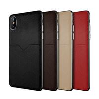 galaxie kreditkarten telefon fall großhandel-Neue Luxus-Ledertasche für das iPhone XR XS MAX X 6S 7 8 plus Kreditkartenfächer für das Samsung Galaxy S8 S9 S10 Plus Note 8 9 slim