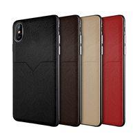 cas de téléphone de carte de crédit de galaxie achat en gros de-Nouvel étui en cuir de luxe pour iphone XR XS MAX X 6S 7 8 plus fentes pour cartes de crédit pour téléphones cellulaires pour Samsung Galaxy S8 S9 S10 Plus Note 8 9 slim