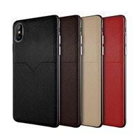teléfono celular de la caja nota al por mayor-Nueva funda de cuero de lujo para el iPhone XR XS MAX X 6S 7 8 más la caja del teléfono celular ranuras para tarjetas de crédito para Samsung Galaxy S8 S9 S10 Plus Nota 8 9 delgado