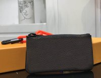 Wholesale cowhide wallet zipper for sale - 2018 Fashion Women Men Designer wallets Black Brown Letter short wallet holder Wallet Top Quality Genuine Leather Mini Coin Purse Wallet Bag