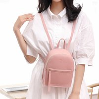 Wholesale women small back packs for sale - Group buy Sleeper fashion Lady Shoulders Small Backpack Letter Purse Mobile Phone back pack Bag luxury bagpack hot