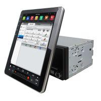 mp3 touch screen wifi venda por atacado-Rotatable estilo Tesla Tela 2 din 9.7
