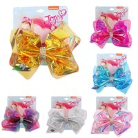 Wholesale girls hair bows 5.5 for sale - Group buy 6 Styles JOJO Girls Baby Fashion Laser Bow Hairpin Inch Boutique Barrette Hair Clip Kids Children s Hair Accessories Birthday Gift M851F