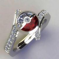 ingrosso prezzo del diamante rubino-Prezzo di fabbrica Mens 925 Sterling Silver Diamond e Ruby Ring Wedding Band Anelli di fidanzamento per le donne Accessori moda