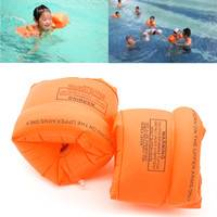 Wholesale inflatable swimming sleeves resale online - inflatable arm band New Swimming Arm Band Ring Floating Inflatable Sleeves For Adult Child One Pair