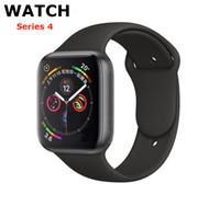 спортивные часы с частотой пульса bluetooth оптовых-Для iPhone iWatch IWO 9 Smart Watch 44 мм серии 4 1to1 Bluetooth Smartwatch Монитор сердечного ритма Спортивные наручные часы Для iPhone Samsung