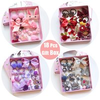 Wholesale hair bow boxes for sale - Group buy Raindo Box Children Cute Hair Accessories Set Baby Fabric Bow Flower Hairpins Barrettes Hair clips Girls Headdress Gift