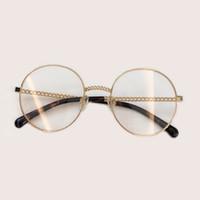 3 Farben Mann Frau Retro Große Runde Brille Transparente Metall Brillen Rahmen Schwarz Silber Gold Brille Brillen Rabatte Verkauf Damenbrillen Bekleidung Zubehör