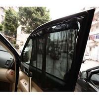 Wholesale car solar shield resale online - 52 cm Car Window Sunshade Curtain Black Side Rear Window Mesh Visor Shield Car Solar Protection with Sucker