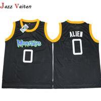movie worn 도매-영화 Monstar Basketball Jersey 남자 거리 힙합 0 # Alien Jerseys Shirt 스티치 스포츠 자수 저지 착용