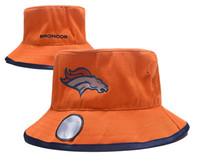 оранжевая шляпа для охоты оптовых-Все команды Бейсбол Спорт ведро шляпа кемпинг охота шляпа Шапо лето солнце пляж рыбалка шапки Бронкос оранжевый широкие поля шляпы для мужчин женщин