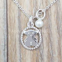 Wholesale cons for sale - Group buy Authentic Sterling Silver pendants Collar Camee De Plata Con Perla Fits European bear bear Jewelry Style Gift