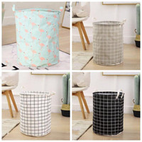 Wholesale toys organization for sale - Group buy Foldable Storage Baskets Waterproof Cotton Linen Storage Bag Desktop Clutter Cosmetic Snacks Toy Organization Storage Bins LXL1159