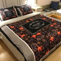 Wholesale king size bedding black blue resale online - 2019 Designer Luxury Bedding Sets King Or Queen Size Bedding Sets Bed Sheets Comforter Luxury Bed Comforters Sets
