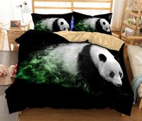 ingrosso re di piuma del panda-Set biancheria da letto in 3D Cute Panda Elephant Polar Bear Stampa Copripiumino con Federa Twin Full Queen King Size