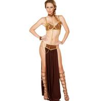 kleopatra cadılar bayramı kostümleri toptan satış-Cadılar bayramı Seksi Yunan Tanrıçası Cosplay Elbise Kadın Arap Prenses Kleopatra Tema Kostümleri Klasik Cadılar Bayramı Kostüm Giyim