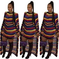 ingrosso nuovi pantaloni grandi gambe-New African Free Size Moda pantaloni a righe larghe con cappotto lungo 2 pezzi Bazin Suit Big Elastic For Lady