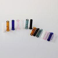 ingrosso supporto del tubo del tabacco-Spedizione DHL !! Mini filtro in vetro punte per tabacco secco a base di erbe Tabacchi RAW con portasigarette per tabacco Spessore tubi in vetro Pyrex