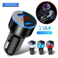 Wholesale fuse adapter for sale - Group buy Hot Dual USB Car Charger A V x cm LED Display Quick Charging Smart Surge Protection Fuse Mode Car Charge Adapter