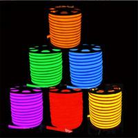 tubo de néon flexível vermelho venda por atacado-10 m / lote LEVOU Flex Luz de Néon das luzes da mangueira em casa teto do hotel sinais de modelagem 110 V 220 V CONDUZIU as Luzes de Néon azul Frete grátis