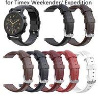 наручные часы кожа оптовых-Новое поступление кожаный ремешок для замены браслета смарт-часы аксессуары ремешок для часов ремешок для часов пряжка ремешок для браслета для Weekender / экспедиции