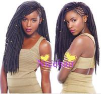 ingrosso estensioni ciocche di capelli-Faux Locs Crochet Hair 24Roots Faux Locks Crochet Braid Marley Trecce Faux Locs Estensioni dei capelli all'uncinetto-3