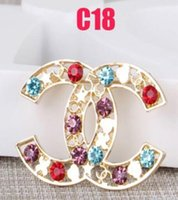 Wholesale rhodium plated brooch resale online - New Corlorful Crystal Enamel Brooch Women Famous Designer Costume Suit Brooches Lapel Pin Party Wedding Jewelry Accessories