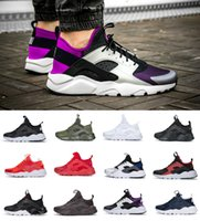 hommes huaraches achat en gros de-2019 Air Huarache 1.0 4.0 Hommes Chaussures de course Red Stripe Balck Blanc Rose Or Chaussures Femme Designer Huaraches Ultra Reflect Sport Sneakers
